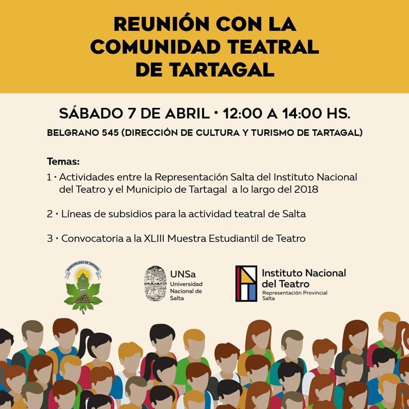 Lee más sobre el artículo Reunión con la comunidad teatral de Tartagal