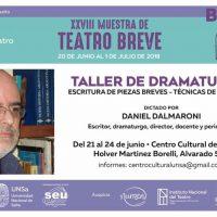 Taller de Dramaturgia dictado por Daniel Dalmaroni