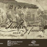 A fines de Octubre, «Teatro, Memoria y Ficción», en Salta