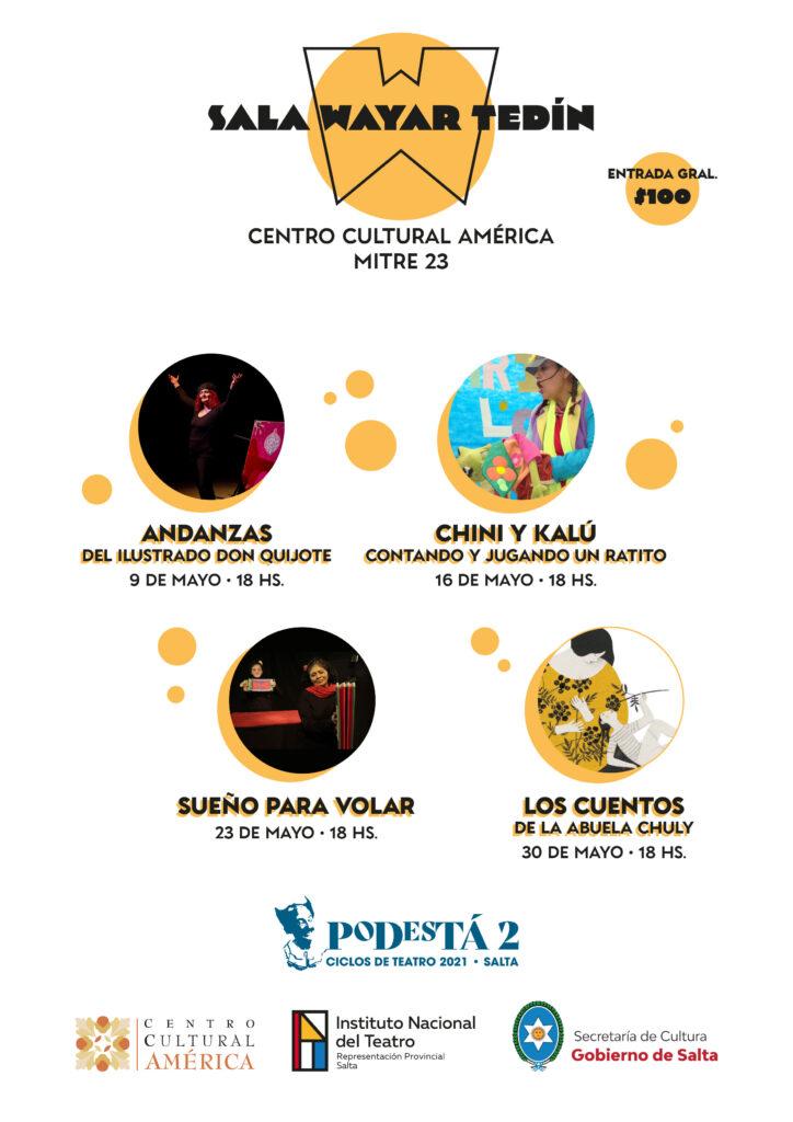 El domingo 9, comienza el Ciclo de Teatro «Sala Wayar Tedín»